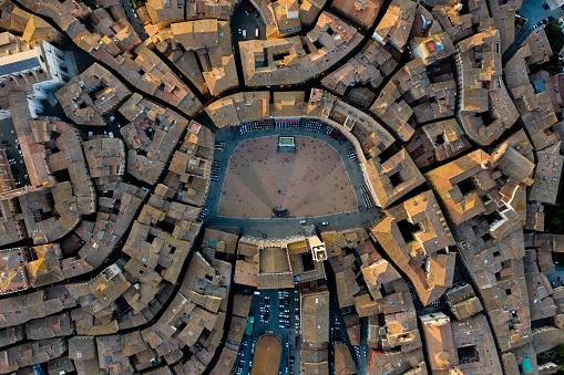 Non-Urban Scene「Piazza del Campo, Siena - Birds Eye View」:スマホ壁紙(10)