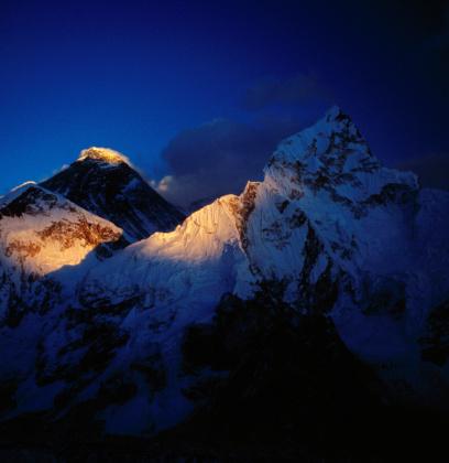 Kala Pattar「Mt Everest (8850m) & Nuptse (8501m) at sunset from Kala Pattar (5545m).」:スマホ壁紙(12)