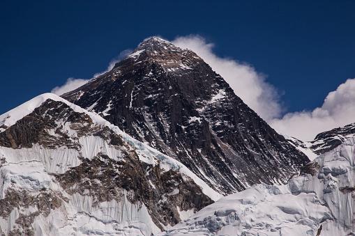 Khumbu Glacier「Mt Everest close up from Kala Patthar, Gorak Shep, Everest Base Camp Trek, Nepal」:スマホ壁紙(5)