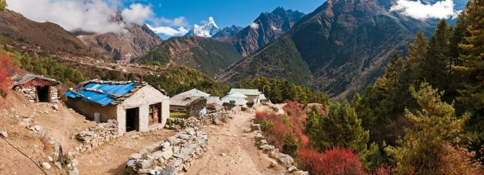 Khumbu「Mt Everest base camp trail Sherpa village Khumbu Himalayas Nepal」:スマホ壁紙(9)