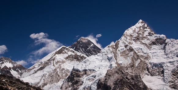 Khumbu Glacier「Mt Everest panorama from Kala Patthar, Gorak Shep, Everest Base Camp Trek, Nepal」:スマホ壁紙(12)