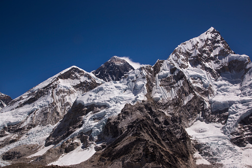 Khumbu Glacier「Mt Everest panorama from Kala Patthar, Gorak Shep, Everest Base Camp Trek, Nepal」:スマホ壁紙(0)