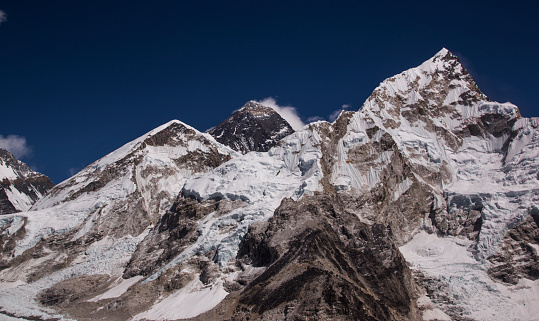 Khumbu Glacier「Mt Everest panorama from Kala Patthar, Gorak Shep, Everest Base Camp Trek, Nepal」:スマホ壁紙(5)