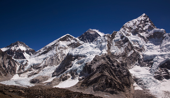Khumbu Glacier「Mt Everest panorama from Kala Patthar, Gorak Shep, Everest Base Camp Trek, Nepal」:スマホ壁紙(14)