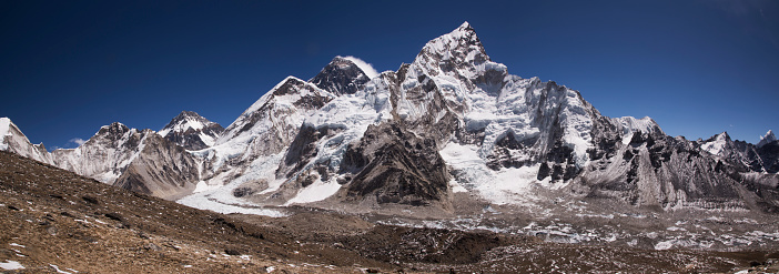 Khumbu「Mt Everest panorama from Kala Patthar, Gorak Shep, Everest Base Camp Trek, Nepal」:スマホ壁紙(17)