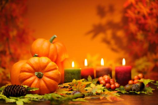 ハロウィン「秋の装飾」:スマホ壁紙(9)