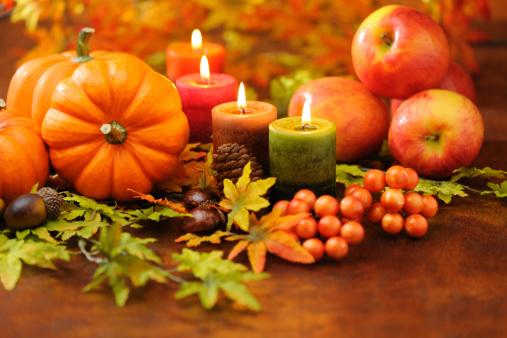 ハロウィン「秋の装飾」:スマホ壁紙(18)