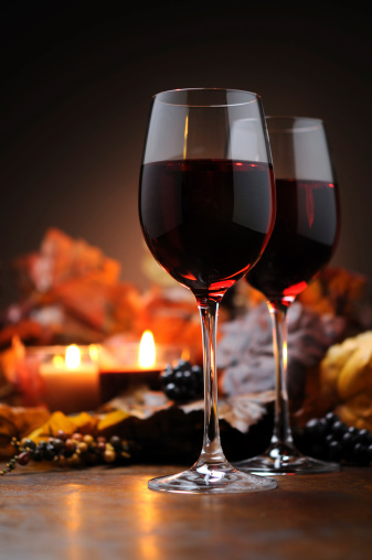 Maple Leaf「Autumn decoration with wine and candle light」:スマホ壁紙(10)