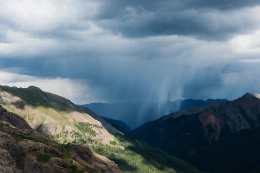 San Juan Mountains「Summer thunderstorms from Ice Lakes Basin, San Juan mountains, Colorado, USA」:スマホ壁紙(12)