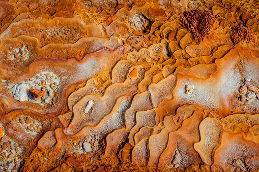 Bank Counter「Abstract natural mineral formations at a geothermal site.Morocco,North Africa」:スマホ壁紙(6)
