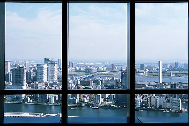View from skyscraper at Tokyo Bay.:スマホ壁紙(壁紙.com)