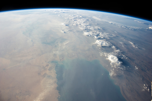 Iran「View from space showing the tropical blue waters of the Persian Gulf.」:スマホ壁紙(5)