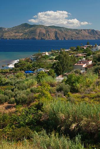 Lipari Island「View from Salina to Lipari, Sicily, Italy」:スマホ壁紙(11)
