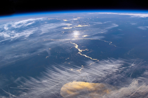 Great Lakes「View from space featuring the Lake Michigan area.」:スマホ壁紙(2)