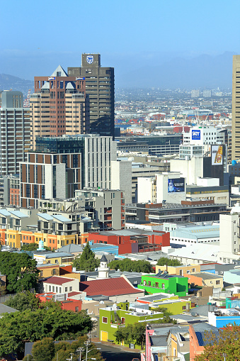 Malay Quarter「View from Signal Hill of Bo Kaap Malaysian Quarter and City, Cape Town South Africa.」:スマホ壁紙(0)