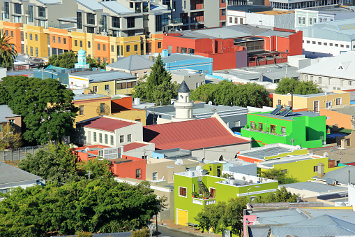 Malay Quarter「View from Signal Hill of Bo Kaap Malaysian Quarter, Cape Town South Africa.」:スマホ壁紙(8)