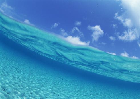 水中写真「View from surface of sea」:スマホ壁紙(17)