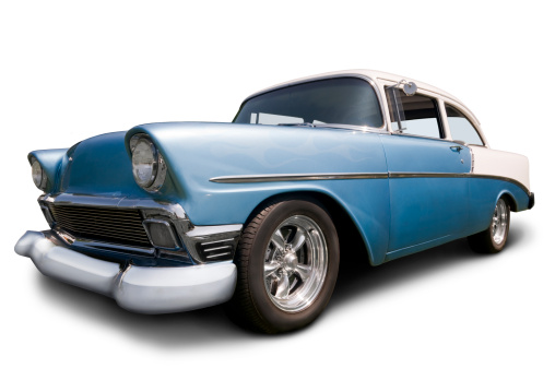 Hot Rod Car「Classic 1956 Chevrolet on white w/ clipping path」:スマホ壁紙(9)