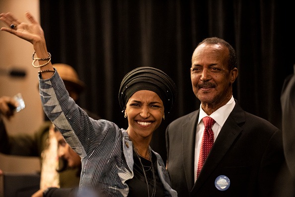 民主主義「Minnesota Congressional Candidate Ilhan Omar Attends Election Night Event In Minneapolis」:写真・画像(12)[壁紙.com]