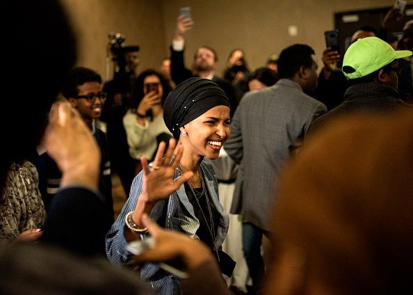 Stephen Maturen「Minnesota Congressional Candidate Ilhan Omar Attends Election Night Event In Minneapolis」:写真・画像(3)[壁紙.com]