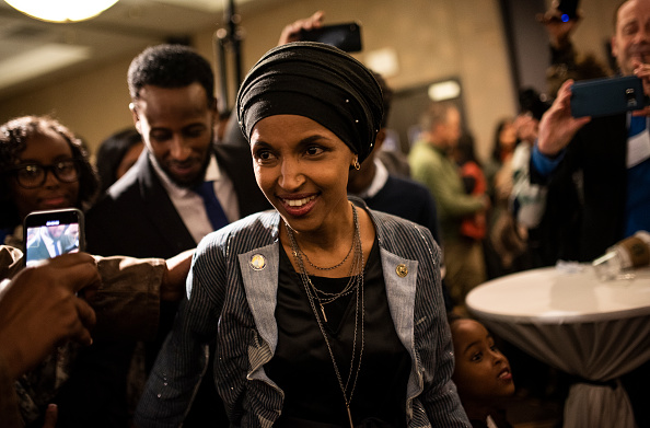 Stephen Maturen「Minnesota Congressional Candidate Ilhan Omar Attends Election Night Event In Minneapolis」:写真・画像(11)[壁紙.com]