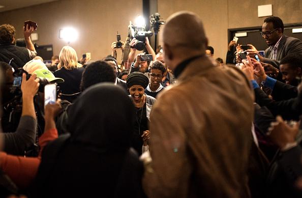 Stephen Maturen「Minnesota Congressional Candidate Ilhan Omar Attends Election Night Event In Minneapolis」:写真・画像(4)[壁紙.com]