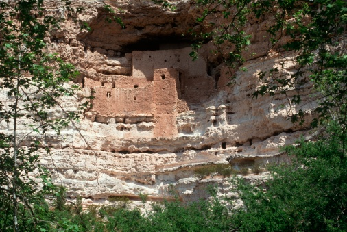 "Montezuma Castle「""Montezuma castle Pueblo Village Indian Ruins, Arizona""」:スマホ壁紙(8)"