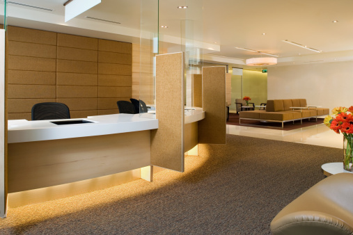 Bank Counter「Waiting Area Inside A Luxurious Building」:スマホ壁紙(2)