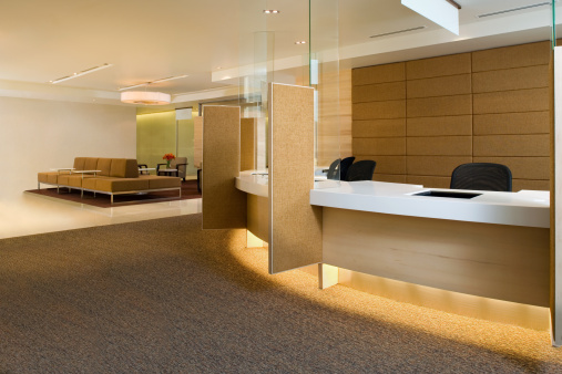 Hotel Reception「Waiting Area Inside A Luxurious Building」:スマホ壁紙(2)