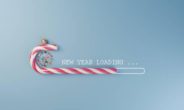 New Year Loading:スマホ壁紙(壁紙.com)