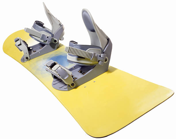 A yellow snowboard with grey bindings:スマホ壁紙(壁紙.com)