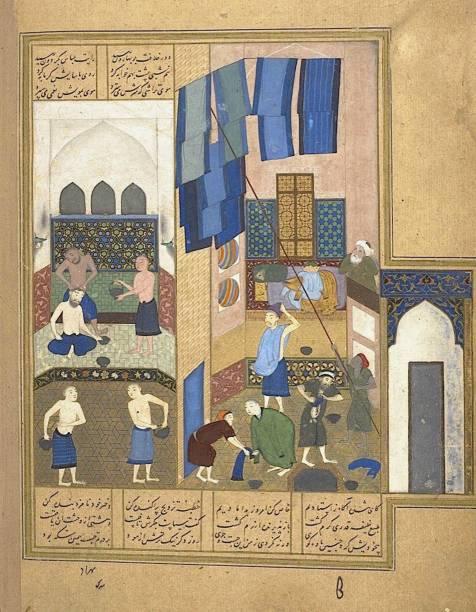 Harun Al-Rashid And The Inside A Hammam (From A Manuscript Of The Khamsa Of Nizami):ニュース(壁紙.com)