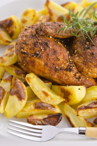 Baked Potato「Chicken roast with baked potatoes」:スマホ壁紙(13)