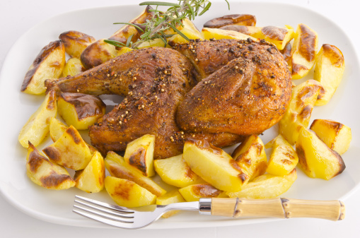 Baked Potato「Chicken roast with baked potatoes」:スマホ壁紙(10)