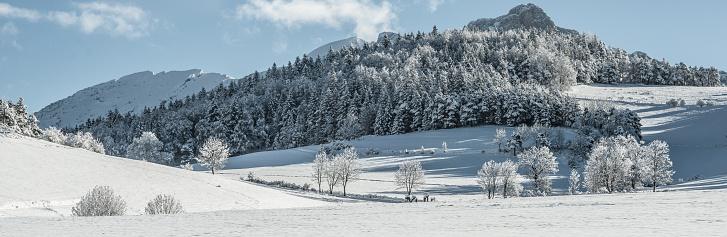 グルノーブル「Beautiful winter snowy landscape」:スマホ壁紙(15)