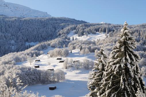 Steep「Beautiful Winter Landmarks Swiss Alps Davos」:スマホ壁紙(6)