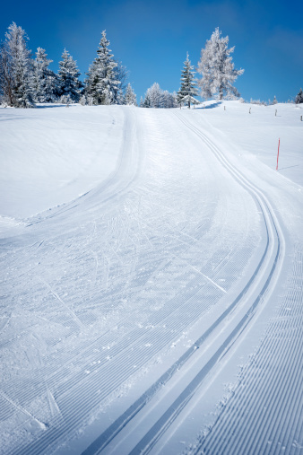 Ski Track「Beautiful Winter Scene with Cross-Country Ski Tracks」:スマホ壁紙(9)
