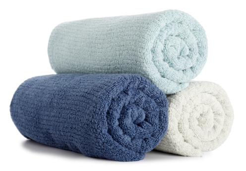 Turquoise Colored「Rolled up Bath Towels」:スマホ壁紙(18)