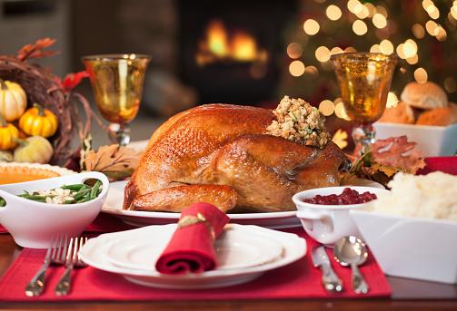 感謝祭「感謝祭用の七面鳥ディナー」:スマホ壁紙(8)