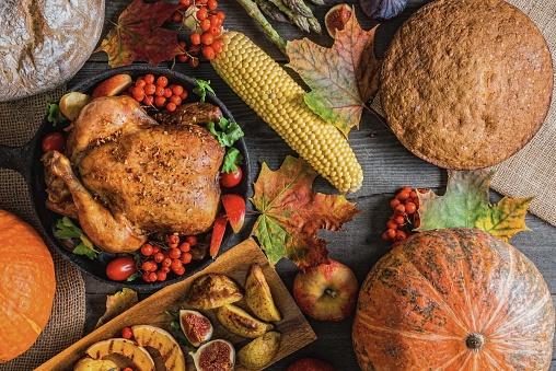 Turkey - Bird「Thanksgiving dinner」:スマホ壁紙(9)