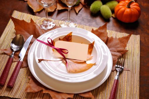かえでの葉「感謝祭のテーブル」:スマホ壁紙(8)