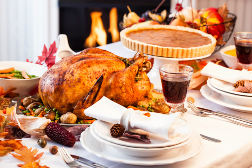 Turkey - Bird「Thanksgiving Dinner with Stuffed Turkey and Side Dishes」:スマホ壁紙(18)