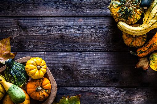 October「Thanksgiving day or autumn pumpkin holiday background」:スマホ壁紙(9)