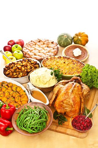Turkey - Bird「Thanksgiving Christmas Roast Turkey Dinner with Side Dishes」:スマホ壁紙(7)