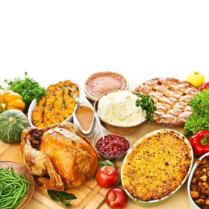 Side Dish「Thanksgiving Christmas Roast Turkey Dinner with Side Dishes」:スマホ壁紙(19)