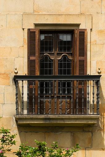 Baluster「A balcony in Elorrio, The Basque Country, Spain」:スマホ壁紙(18)