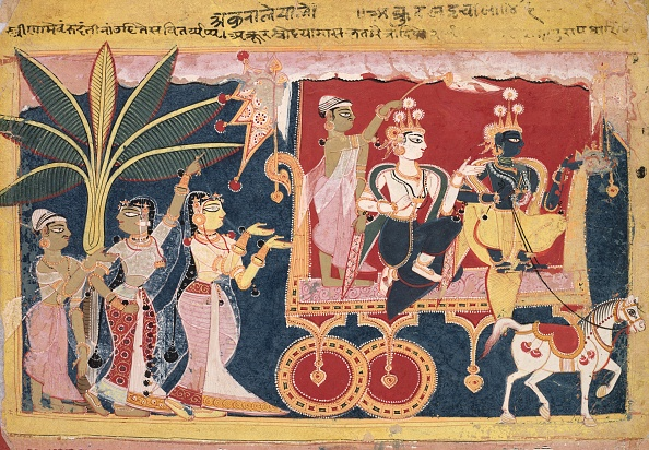 Delhi「Akrura Drives Krishna And Balarama To Mathura (Isarda Bhagavata Purana)」:写真・画像(19)[壁紙.com]