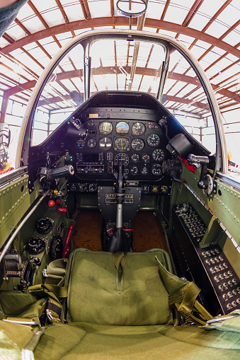 Fighter Plane「The cockpit of a P-51 Mustang.」:スマホ壁紙(7)