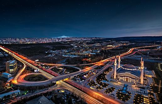 Central Anatolia「Ahmet Hamdi Akseki Mosque in The capital city of Turkey, Ankara.」:スマホ壁紙(10)