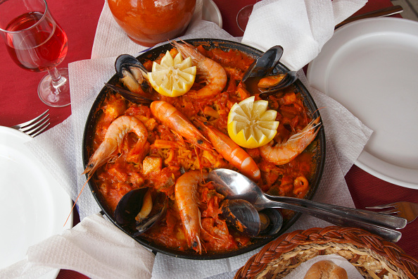 Prawn - Seafood「Paella, Gran Canaria, Canary Islands, Spain.」:写真・画像(4)[壁紙.com]